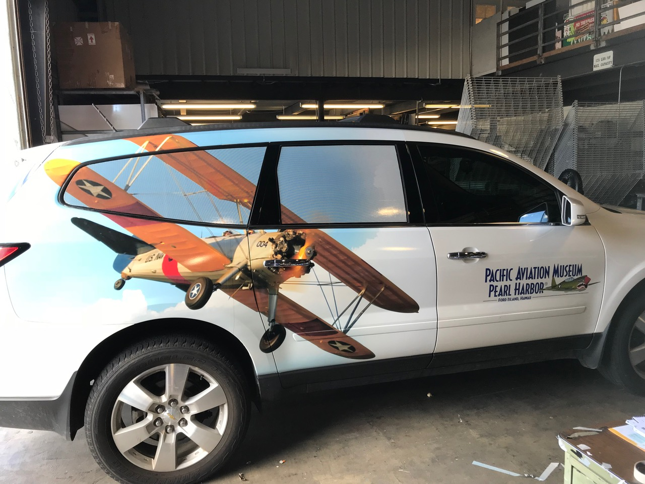 Pac Aviation Museum graphic wrap car